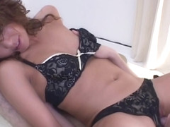 Luna Mikami Lovely Japanese model has shaved pussy