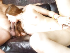 Strong fuck on the couch for amazin - More at 69avs.com