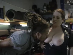 INTERRACIAL hardcore CFNM threesome with HOT criminal