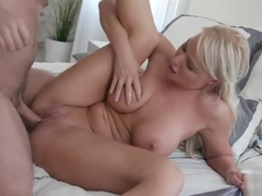 Son loves to fuck his sissy mom