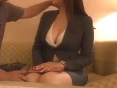 Incredible Japanese girl Haruna Saeki, Ramu Hoshino, Saki Sudou in Fabulous Big Tits, Stockings/Pa.