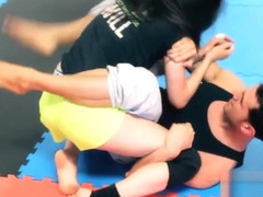 Sexy Girl Mixed Wrestling