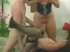 Two Horny Sluts In Leather Enjoy In Wild