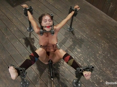 Alicia Stone in Alicia Stone Brutally bound, foot caned and made to cum over and over! - DeviceBon.