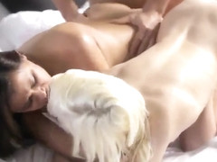 Cumshot porn video featuring Chloe Foster and Selma Sins