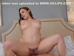 Wife Lily Love fucking in the bedroom with her outie pussy