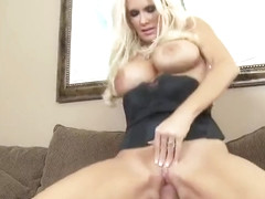 Beauteous breasty mom Rhyse Richards is sucking penis