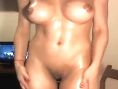 Amazing model oils sensual her perfect body
