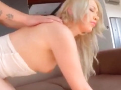 Charming Lindsey Olsen performing in amazing creampie porn video