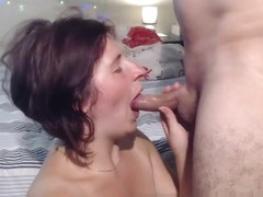 deepthroat and facial cumshot compilation