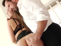 Ass licked buxom slut analized