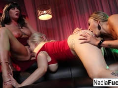 Nadia White  Jezebelle Bond  Claudia Valentine in 3 Pornstars Decide To Fuck Each Other At A Night.