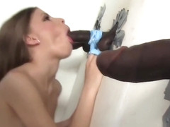 Avril Sun sucks and fucks black dick - Glorhyole