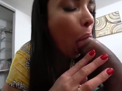 Anissa Kate whips out her tits and pussy to let her stepson romp her