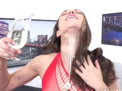 Alyssa Reece in Pissing In Fishnet at Puffy Network - WetAndPissy