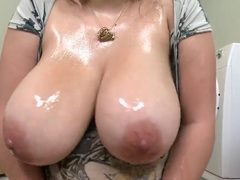 Adorable fat whore Shyla Shy shakes her bums and sucks a dick