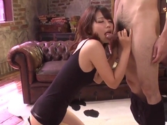 Yura Kurokawa Loves The Dick Deep In Her Mouth And Pussy -