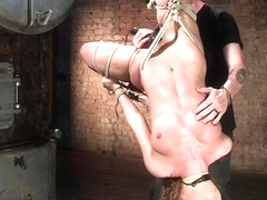 Upside down suspension hogtie for redhead