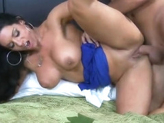 Incredible breasty British Bella Reese makes sensuous blowjob