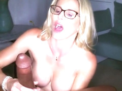 The Negro with long cock mom in red shoes powerful orgasm...