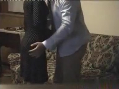 Couple has a quickie on the sofa
