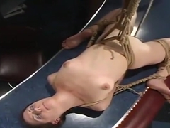Beautiful Lena Ramon performing in BDSM action