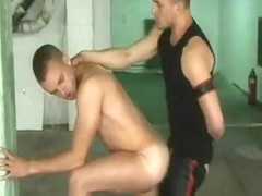 Sex young chav is rough fucked by beefy leather hunk