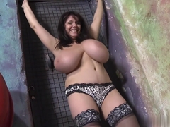Basement rat with gigantic tits