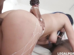 Charlotte Cross is a dirty minded chick who likes to suck a black dick while getting assfucked