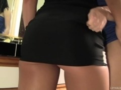 Goth Girl In Miniskirt Exploited By Mischa Brooks