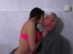 Emily Thorne begs for grandpa's dick and enjoys it.