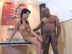 Pretty brazilian angel receives sexually excited with BBC