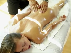 Victoria Rae Black enjoys massage