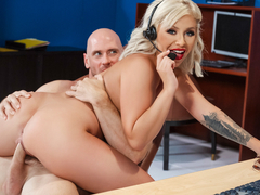 Madelyn Monroe & Johnny Sins in Call Centre Cock - BRAZZERS