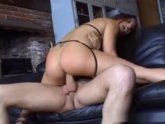 Jayna Oso gets cum facial and ass gaping