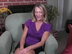 Hot blonde milf joi