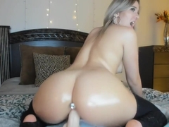 Vixen Girl Brittany Benz Takes HUGE Dildo Live With Anal Plug In!