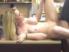 Booty blonde babe Skyla Novea hardcore sex in the office