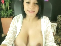 Busty student bouncing boobs Part 01
