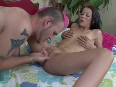 Alaina Kristar struggles to swallow her first load