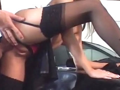 Victoria Swinger Hard Fucking In Sexy Black Stockings