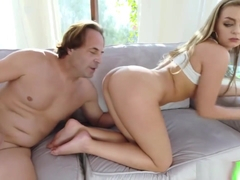 Horny Babe Vanessa Cage Massaging A Huge Cock