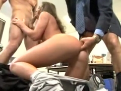 Naomi Russell fucked by her 2 bosses