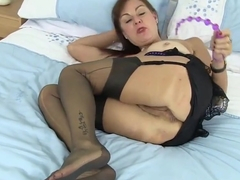 UK nurse GILF Gorgie with anal beads