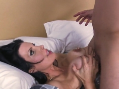 Busty mom Shay Sights fucked virgin daughter's roommate Mr. Pete