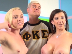 Horny pornstars Scott Lyons, Caroline Cross, Sara Jay in Incredible Big Ass, Threesomes adult video