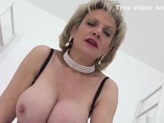 Unfaithful british milf lady sonia shows her massive tits