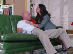 Landscaper Johnny Sins is fucked by his clients Shay Sights and Ariella Ferrera