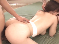 Superb scenes of threesome with hot Mizuki Akai - More at Pissjp.com