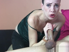 SYLVIA CHRYSTALL EURO BABE SHINY SLOPPY DROOLING FACEFUCK POV IN THE MIRROR